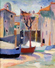 Henri Manguin   Barques à la Ponche, n.d.