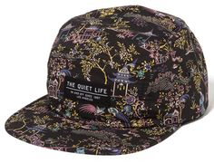 Black Peony 5 Panel Cap by THE QUIET LIFE