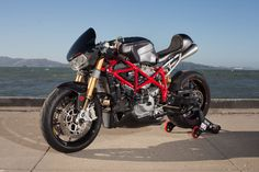 """As a Cafe Racer Fan, you have got to love this story on a Ducati 749 Cafe Racer called """"Scarlett"""""""