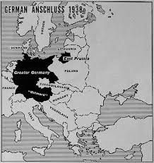 """Map-The union of Germany and Austria also violated the Treaty of St. Germain, signed by the Austrians at the end of World War I. At the insistence of the French and the British, an amended version of this Treaty included Article 88, which provided for the following:  """"The independence of Austria is inalienable......"""