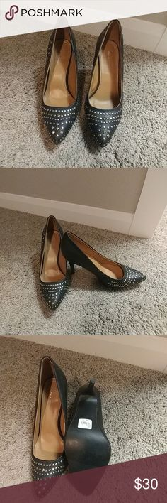 Studded black heals Wide width studded black heels Lane Bryant Shoes Heels
