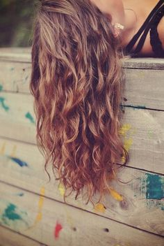 gorgeous long wavy curly hair