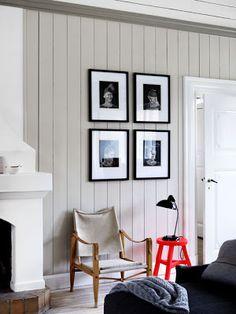 Modern rustic home Grey Painted Walls, Danish Interior, Interior Architecture, Interior Design, Modern Rustic Homes, Ship Lap Walls, Vintage Design, Dream Decor, Elle Decor