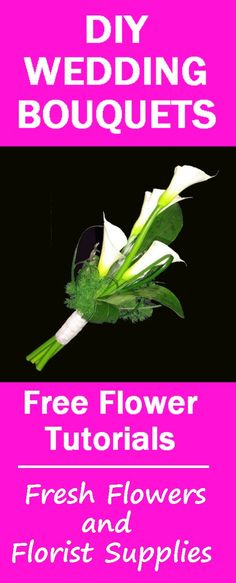 Calla Lily Bouquet Centerpiece - Easy Wedding Flower Tutorials  Learn how to make bridal bouquets, corsages, boutonnieres, table centerpieces and church decorations.  Buy fresh flowers and discount florist supplies.