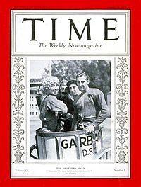 Les Marx Brothers en couverture du Time Magazine (1932)