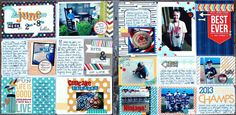 I am so excited to tell you all that I jumped on the Project Life bandwagon and FINALLY got my first spread done!! It was sooooo much fun!! ...