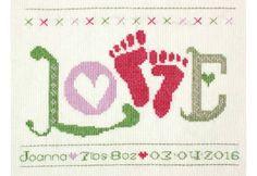 Love Baby Girl StitchKits Cross Stitch Kit £23.95 | Past Impressions | StitchKits