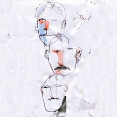 Blind drawing is fun, try to draw a face with your eyes closed and see what happens … #gutenMorgenBerlin! #sketch #dailysketch #julesdrawings #goodmorning #berlin