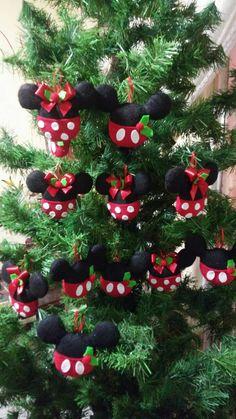 Esferas navideñas de mickey y minnie mouse #navidad #disney