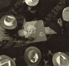 Card players, Los Angeles, California