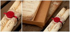 (18) A scroll invitation would be the first step to giving guests an idea of the Game of Thrones (medieval) theme.