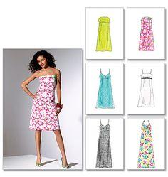 Loft Strapless Beaded Dress: use McCall's 4440, adjust waist, add self-tie