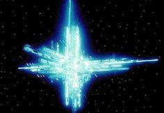 Ship of Light from Battlestar Galactica (TOS) Star Trek Enterprise, Star Trek Voyager, Sci Fi Series, Tv Series, Battlestar Galactica 1978, Sci Fi Shows, Firefly Serenity, The Last Airbender, Marvel Universe