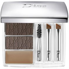 Dior All-In-Brow 3D Long-Wear Brow Contour Kit ($52) ❤ liked on Polyvore featuring beauty products, makeup, eye makeup, long wear makeup, eyebrow kit, christian dior makeup, eyebrow wax kit and eyebrow cosmetics