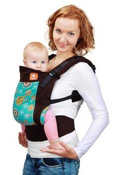 #Marsupio Ergonomico Tula - Happy Dills. Permette di portare sul davanti e sulla schiena il bebè dalla nascita fino ai 4 anni circa. Per i neonati va abbinato all'apposito Cuscinetto per Neonati. E' realizzato con tessuto 100% cotone certificato Oeko-Tex Standard 100.