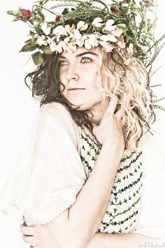 Model: Morgan Wisted  Hair, MUA, Styling, Headpiece, & Photography: The Lady & Rock  #Tumblr#Ethereal#Headpieces#Nature#Romantic#Vintage#Retro#Forals#Flowers#Earth#Love#Editorial#Fashion#Beauty#Art#Models#Morgan Wisted#Colors