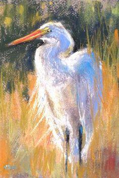 """Plein Air from Photos... Pawleys Island Day 2...Egret"" - Original Fine Art for Sale - © Karen Margulis"