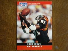 Eddie Brown Cincinnati Bengals WR Card No. 61 (FB61) 1990 NFL Pro Set Football Card - for sale at Wenzel Thrifty Nickel ecrater store