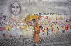 Lennon Wall - Prague, Czech