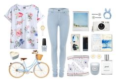 """#38 Sweeter Than Fiction"" by judy-tran2201 ❤ liked on Polyvore featuring MTWTFSS Weekday, Dr. Denim, Fresh, Polaroid, OPI, Converse, Lomography, Kate Spade, Royal & Langnickel and Clips"