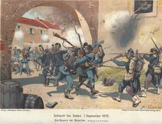 Battle of Sedan, Sept. 1870, Franco-Prussian War