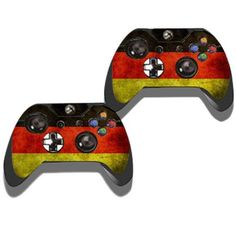 Protective Game Player and Controller Skin Sticker with Germany Flag Pattern for Xbox One #women, #men, #hats, #watches, #belts, #fashion