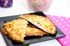 Low Carb Sandwich mit Blumenkohl-Käse-Kruste