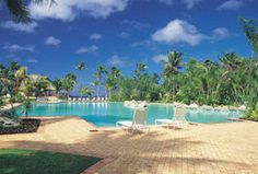 Outrigger Fiji - lounging by the pool