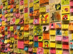 post it art.
