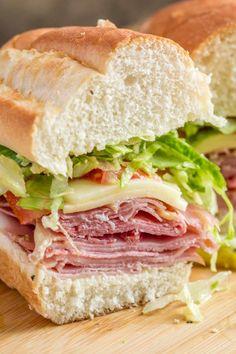 Italian Sub, Italian Deli, Italian Dishes, Classic Italian, Italian Night, Italian Foods, Meat Sandwich, Deli Sandwiches, Sandwich Recipes