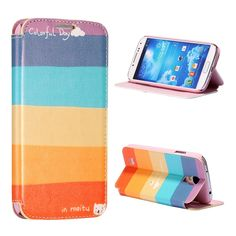 Samsung S4 colorfull day horizontale flip case, cover, hoes
