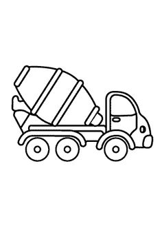 Cement Mixer Truck Transportation Coloring Pages For Kids