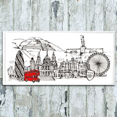 Personalised Your Skyline Illustration Print by Natalie Ryan Design, the perfect gift for Explore more unique gifts in our curated marketplace. Iron Fortress, Create Your Story, Angel Of The North, Ink Pen Drawings, Amazing Buildings, Travel Posters, Create Yourself, Original Artwork, Unique Gifts