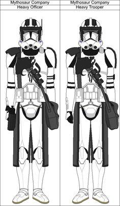 Titanium Squad full by on DeviantArt Star Wars Concept Art, Star Wars Fan Art, Star Wars Pictures, Star Wars Images, Star Wars Clone Wars, Lego Star Wars, Star Wars Battlefront 3, Star Wars Timeline, Galactic Republic