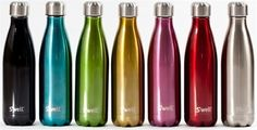 Swell Water Bottle + Shimmer Collection Of Colors + Insulated, Stainless Steel, Toxin Free & Unbreakable + On The Go Accessory