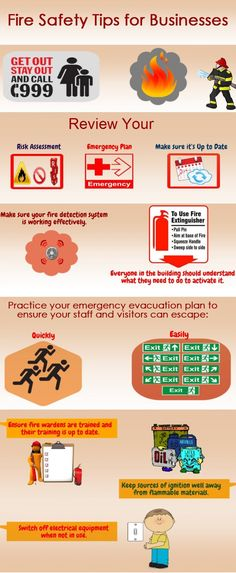 Precautions are better than cure. Check out the effective measures that can help in escaping fire in workplace. Fire Safety Tips, Safety Rules, Emergency Evacuation Plan, Electrical Safety, Fire Prevention, Fire Extinguisher, Health And Safety, Business Tips, Workplace