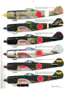 Japanese Nakajima Ki.84 Hayate, World War II Warbirds.