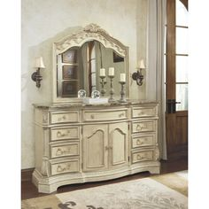 Signature Design by Ashley Ortanique Light Opulent Dresser and Mirror