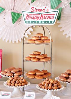 Darling Krispy Kreme Doughnut party from @lil blue boo -- thanks @Tiffany Lewis for sharing with me!