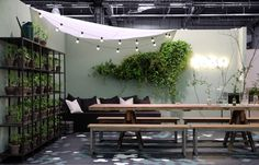 Deko at Spring fair, designed by Peeta Peltola Outdoor Dining, Outdoor Spaces, Indoor Outdoor, Outdoor Decor, Rue Verte, Gazebos, Casa Patio, Garden Cafe, Outside Living