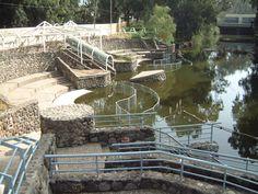 Jordan River baptism center  (wear something under those robes!)