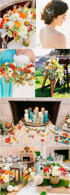wedding color idea; photo: Mason and Megan Photography
