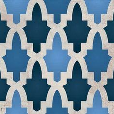 Moroccan Arches Allover Stencil by Royal Designs Studio (shown with 3 different colors)
