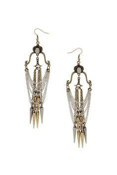 topshop - Pagan Spear Chandelier Earrings