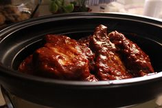 Honey Chipotle Slow CookerRibs. Maybe try with chicken?