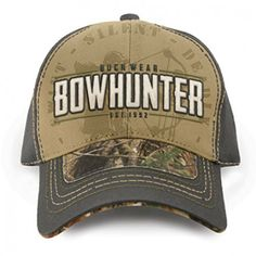 Buck Wear Bowhunter Est. 1992 Realtree Camo Hunting Hat Bow Hunter 15fe25db3fb