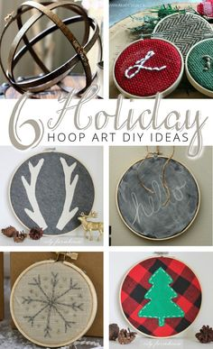 Embroidery hoops aren't just for embroidery any more! Here are five holiday hoop art diy ideas you can make today!
