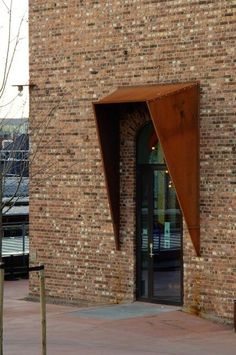 Galleri Trafo - entrance canopy using Corten Steel. Beautiful details…