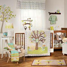 Animal Tree 4-Piece Crib Bedding Set