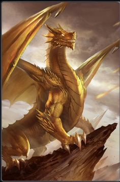 I am a Golden Dragon - others - Webnovel Bronze Dragon, Gold Dragon, Fantasy Beasts, Fantasy Rpg, Mythical Creatures Art, Fantasy Creatures, Mythical Dragons, Cool Dragons, Dragon Artwork